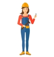 Cheerful repairer engineer vector image