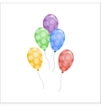 Color glossy balloons vector image vector image