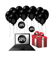 cyber monday offer to shopping online with laptop vector image