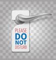 do not disturb room sign hotel door vector image vector image