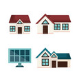 eco friendly house design vector image vector image