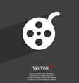 Film icon symbol Flat modern web design with long vector image vector image