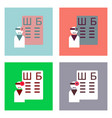 flat icon design collection ophthalmologist and vector image vector image