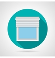 Flat icon for window with blinds vector image vector image