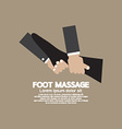 Foot Massage Relaxing vector image