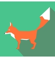 Geometric fox vector image