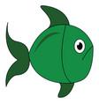 green fish vector image vector image