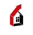 Growth trend of real estate industry Simple house vector image vector image