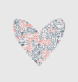 hand drawn love doodle icons vector image vector image