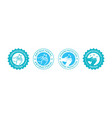 hand gel sanitizer logo vector image