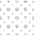 happiness icons pattern seamless white background vector image vector image
