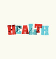 health concept colorful stamped word vector image vector image