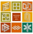 Impossible objects Set 4 vector image vector image