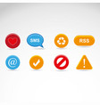 information and notification icons vector image