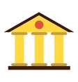 Justice court building icon flat style vector image