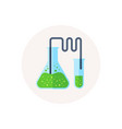 laboratory tubes icon chemistry and science vector image