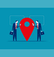 location business people near location point vector image vector image