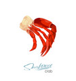 meat crab in cartoon style vector image vector image