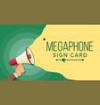 megaphone in human hand elections symbol vector image vector image