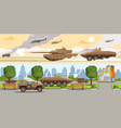 military equipment horizontal banners vector image vector image