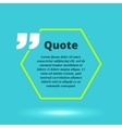 modern quote blank template concept vector image vector image