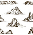 monochrome seamless pattern with mountain peaks vector image