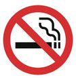 no smoking red icon simple style vector image