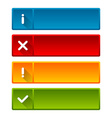 Notification icons and buttons vector image vector image