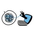 online psychological help vector image vector image
