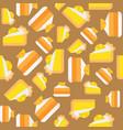 orange and lemon layer cake seamless pattern vector image vector image