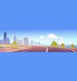 overpass highway empty city road with skyscrapers vector image vector image