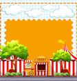 Paper design with circus tents vector image vector image