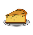 pie plain pastry icon image vector image vector image