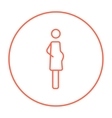 Pregnant woman line icon vector image vector image