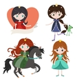 Princess collection isolated on white background vector image vector image