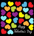 rainbow color heart set happy valentines day sign vector image