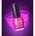 Realistic nail polish makeup product vector image