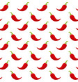 red chili pepper vegetable seamless pattern vector image vector image
