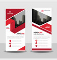 red label business roll up banner flat design vector image vector image