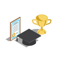 rewards for successful graduation vector image