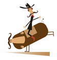 rodeo man and bull isolated vector image