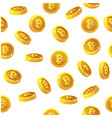 rotation bitcoin coins seamless pattern digital vector image vector image