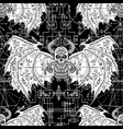 samless pattern with demon and mystic symbols vector image