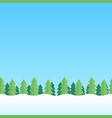 seamless background with winter nature landscape vector image