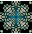 Seamless ornamental kaleidoscopic tile vector image