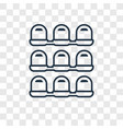 seats concept linear icon isolated on transparent vector image vector image