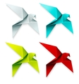 set colorful origami bird eps 10 vector image vector image