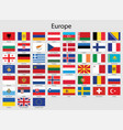 set flags europeancountries all europe flag vector image