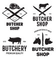 set of butchery logo templates butchery labels vector image vector image