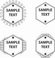 Set of hexagon logo vector image vector image